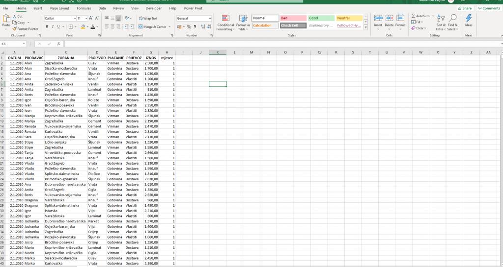 Excel funkcija Luka Kobeščak